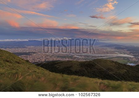 Taipei Area Aerial View From Datun Shan