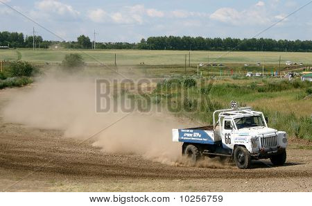 Cross-country truck race