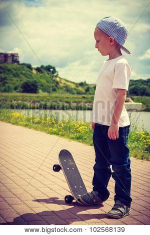 Little Skater Boy Outdoor.
