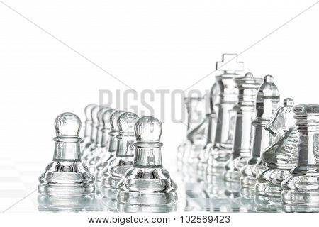 Chess Group Transparent Glass Blur Silhouette Team Challenge