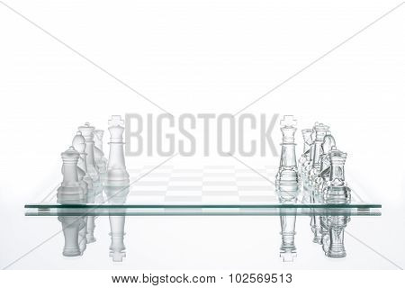 Business Competition Strategy, Transparent Glass Chess Group, Teamwork