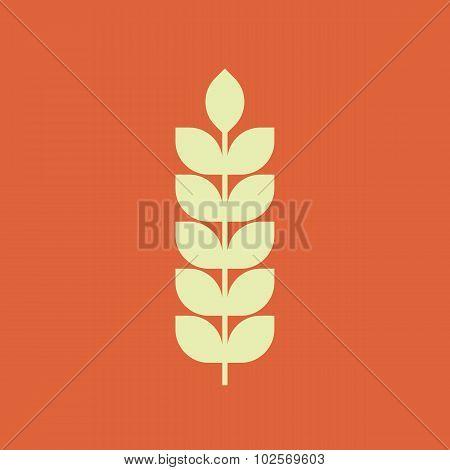 Wheat icon, modern minimal flat design style, vector illustration