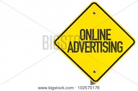 Online Advertising sign isolated on white background