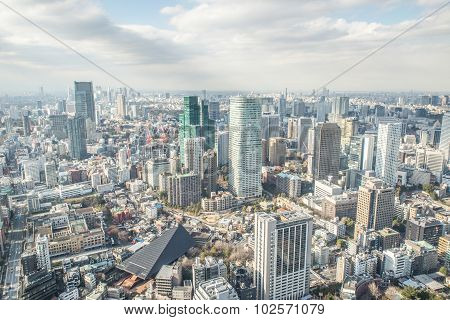 Tokyo Aerial View From Tower