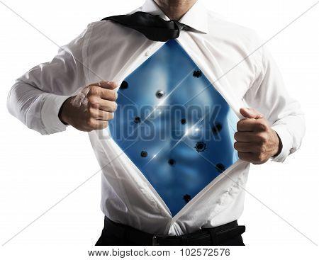 Invincible businessman
