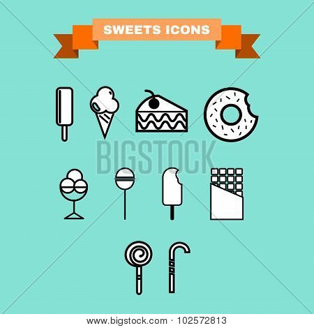 Sweet Treats Vector Icon Set
