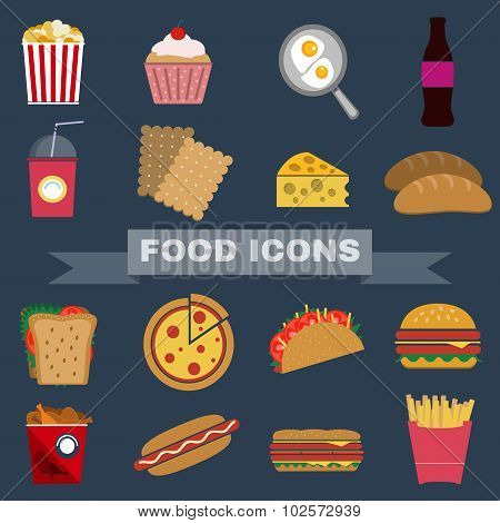 Food Snacks Icon Set