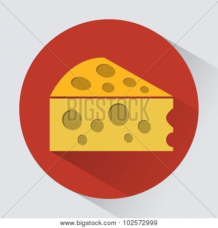 Piece Of Cheese Round Icon