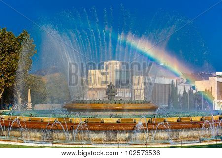 Magic Fountain of Montjuic in Barcelona, Spain