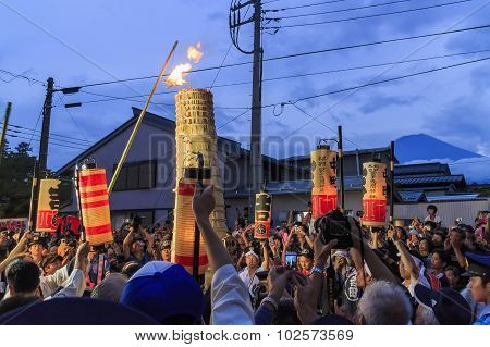 The Special Festival - Yoshida Fire Festival At Fujisan Hong? Sengen Taisha