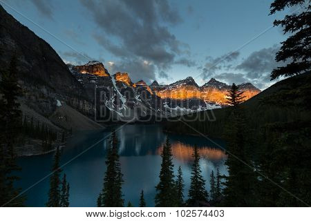 Sunrise At Valley Of The Ten Peaks