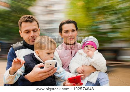 cheerful Portrait  Family