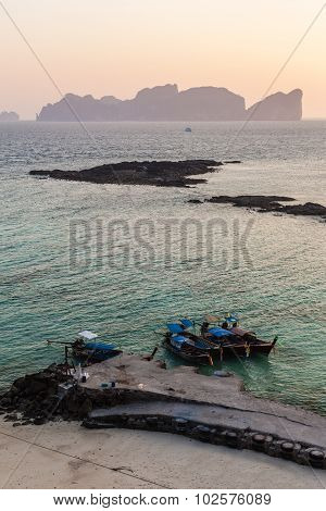 Thai Island Dawn Vertical