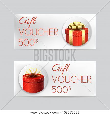 Gift Voucher Template With Christmas Gifts