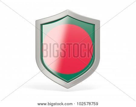 Shield Icon With Flag Of Bangladesh