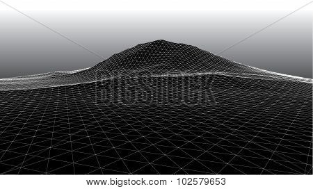 3D Abstract Surface Like Mountain