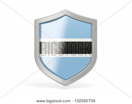 Shield Icon With Flag Of Botswana