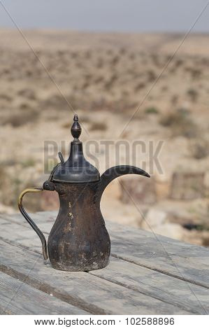 Traditional Vintage Arabian Old Smoked Coffee Maker