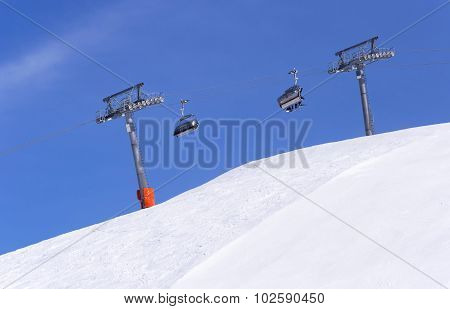 Chair Ski Lift In Alps