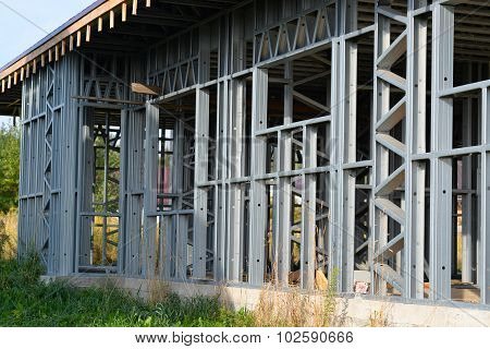 iron truss frame house