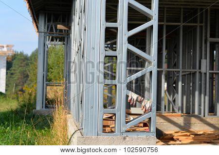 iron truss frame house