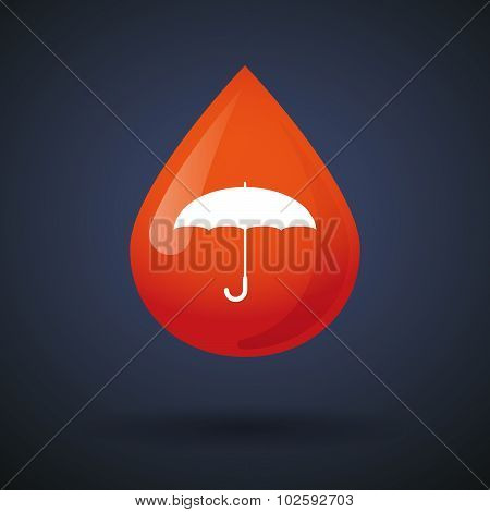 Blood Drop Icon With A Web Cam