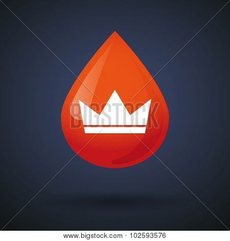 Blood Drop Icon With A Crown