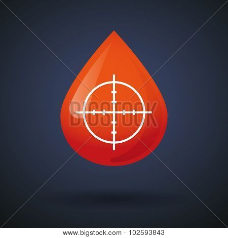 Blood Drop Icon With A Crosshair