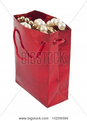 Red Giftbag With Jewelry