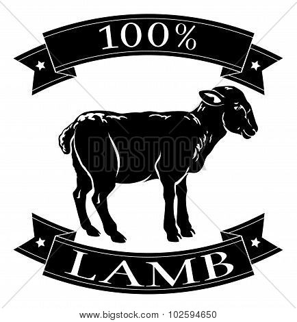 Lamb 100 Percent Label