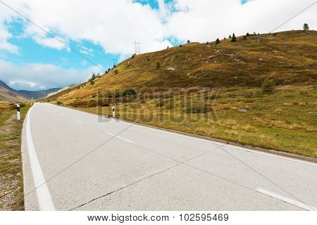 Swiss Alpine Landscape, road