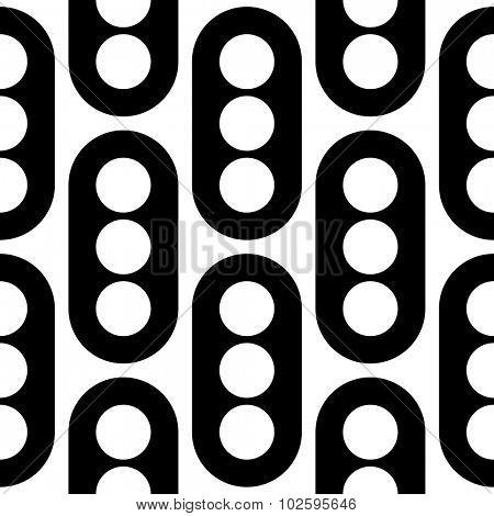 Seamless Circle Pattern. Vector Regular Texture