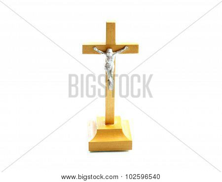 Very Simple Wooden Holy Crucifix Jesus Christ