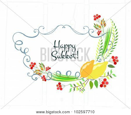 Ector Collection Of Labels And Elements For Sukkot