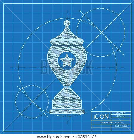 Vector flat trophy