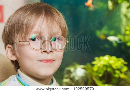Boy in glasses