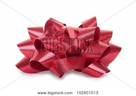 Red bow.