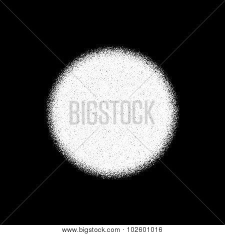 White Abstract Circle Badge