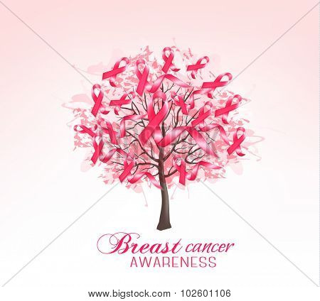 Breast cancer awareness background. Vector..
