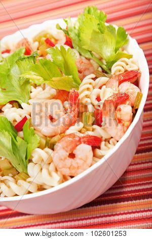 Fusilli, Shrimp And Celery Salad