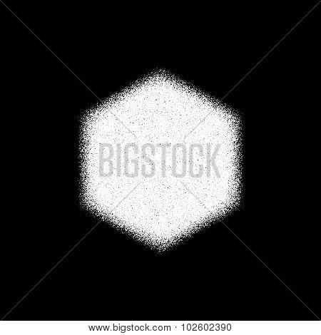 White Abstract Polygon Badge