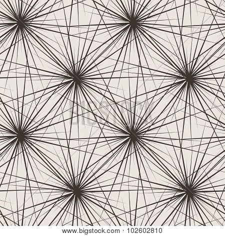 Seamless pattern of stars with very long rays