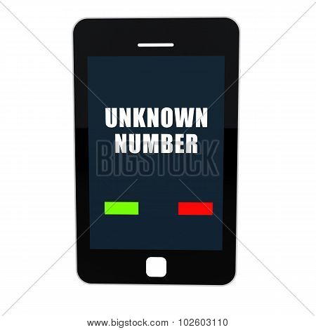 3d mobile phone with unknown number