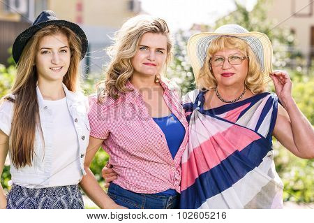 Grandmother ,mother and daughter