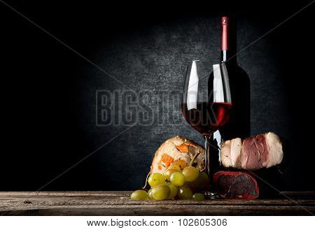 Meat and wine