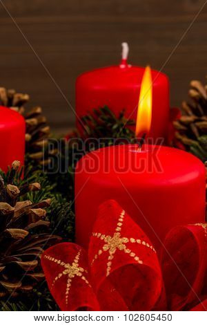 an advent wreath for christmas promises a romantic mood in the silent advent.