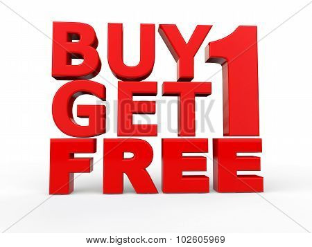 3d buy 1 get 1 free red text