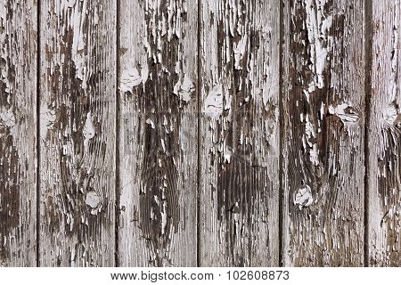 Weathered gray and brown board wall