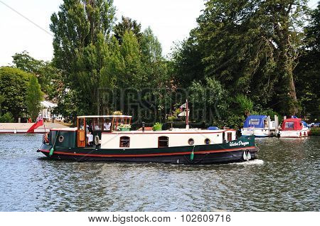Thames houseboat, Henley-on-Thames.