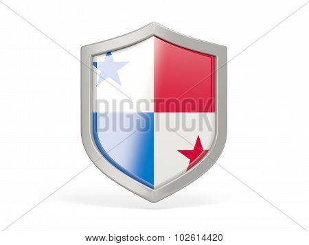 Shield Icon With Flag Of Panama